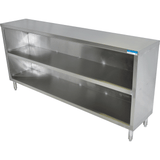 "BK Resources BKDC-1872 72"" x 18"" Stainless Steel Dish Cabinet"