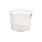 Cambro CCP15152 1.5 Qt. Clear Plastic Round Crock with Lid