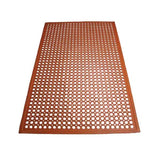 "Winco RBM-35R Red 1/2"" Thick 3' X 5' Anti-Fatigue Rubber Floor Mat"