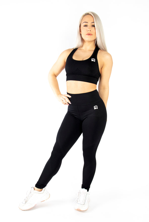 SEAMLESS '3D FIT' SCULPT LEGGINGS - BLACK