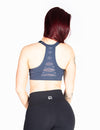 RACERBACK SPORTS BRA WITH CRISS CROSS DETAIL - NAVY - Rise Above Fear, High Performance Activewear, Sportswear