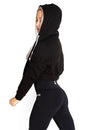 CROPPED ZIP HOODIE - BLACK - Rise Above Fear, High Performance Activewear, Sportswear