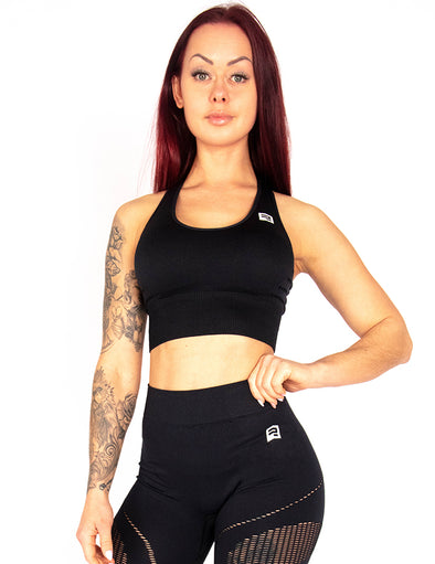 SEAMLESS SCULPT SPORTS BRA - BLACK