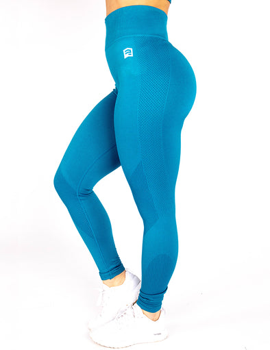 SEAMLESS '3D FIT' SCULPT LEGGINGS - AZURE BLUE