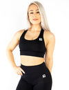 SEAMLESS '3D FIT' SCULPT SPORTS BRA - BLACK
