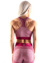 SEAMLESS SCULPT SPORTS BRA - BURGUNDY