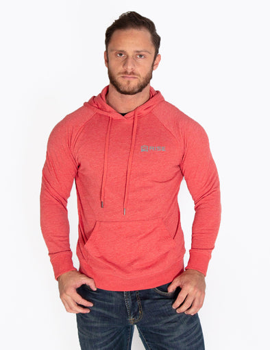 MUSCLE PULLOVER HOODIE - RED MARL - Rise Above Fear, High Performance Activewear, Sportswear