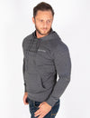 MUSCLE PULLOVER HOODIE - GREY MARL - Rise Above Fear, High Performance Activewear, Sportswear