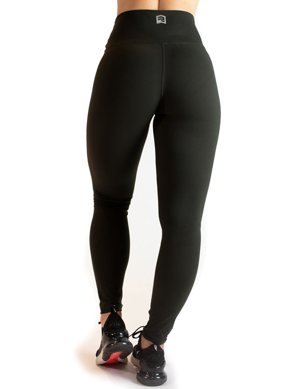 HIGH RISE SUPER SOFT LEGGINGS - DARK GREEN