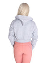 CROPPED ZIP HOODIE - GREY - Rise Above Fear, High Performance Activewear, Sportswear