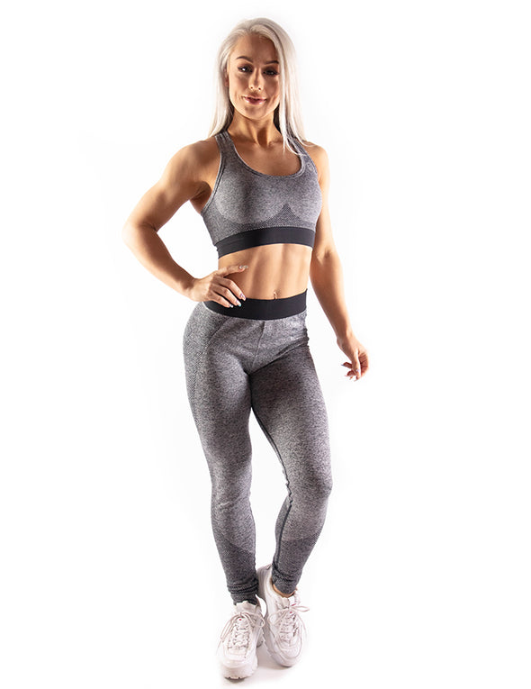 HIGH PERFORMANCE SEAMLESS LEGGINGS - GREY