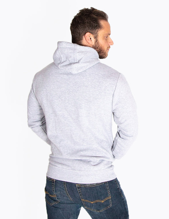 HEAVYWEIGHT PULLOVER HOODIE - HEATHER GREY - Rise Above Fear, High Performance Activewear, Sportswear