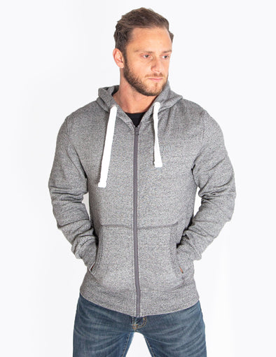 HEAVYWEIGHT ZIP HOODIE - HEATHER GREY - Rise Above Fear, High Performance Activewear, Sportswear