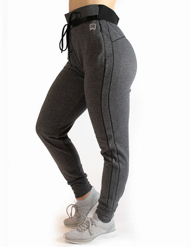 HIGH RISE JOGGERS - GREY MARL