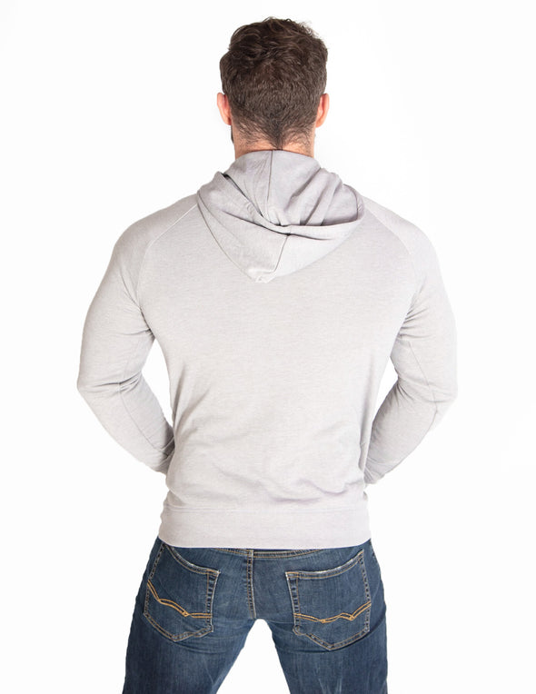 MUSCLE PULLOVER HOODIE - SILVER MARL - Rise Above Fear, High Performance Activewear, Sportswear