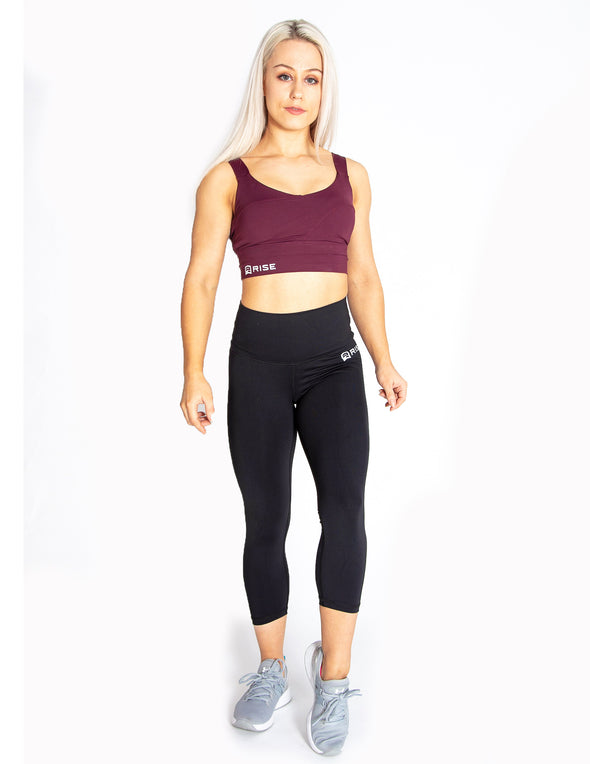 SIGNATURE SPORTS BRA - MAROON - Rise Above Fear, High Performance Activewear, Sportswear