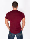 PREMIUM MEN'S T-SHIRT - MAROON - Rise Above Fear, High Performance Activewear, Sportswear