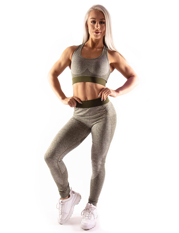 HIGH PERFORMANCE SEAMLESS LEGGINGS - OLIVE