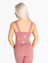 SIGNATURE SPORTS BRA - DUSTY ROSE - Rise Above Fear, High Performance Activewear, Sportswear