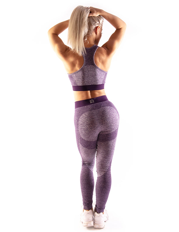 HIGH PERFORMANCE SEAMLESS LEGGINGS - PURPLE