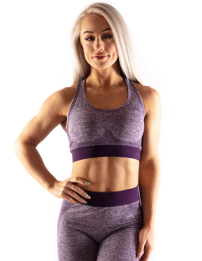 SEAMLESS SCULPT SPORTS BRA - PURPLE