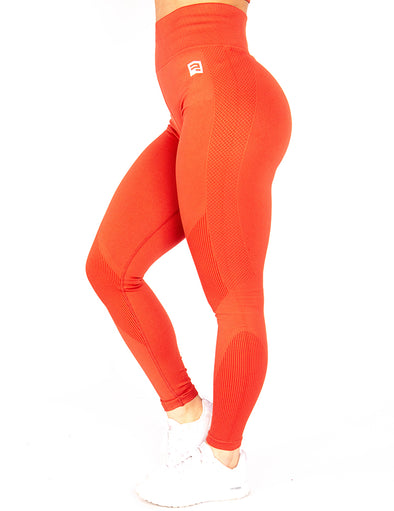 SEAMLESS '3D FIT' SCULPT LEGGINGS - RUST
