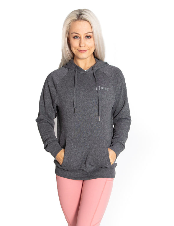 SIGNATURE PULLOVER HOODIE - GREY MARL - Rise Above Fear, High Performance Activewear, Sportswear