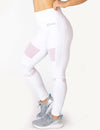 MESH PANEL HIGH RISE LEGGINGS - WHITE - Rise Above Fear, High Performance Activewear, Sportswear