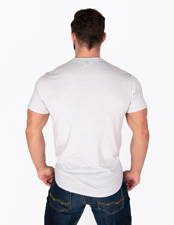 PREMIUM MEN'S T-SHIRT - LIGHT GREY - Rise Above Fear, High Performance Activewear, Sportswear