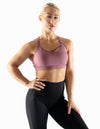 ASYMMETRIC SPORTS BRA - RASPBERRY