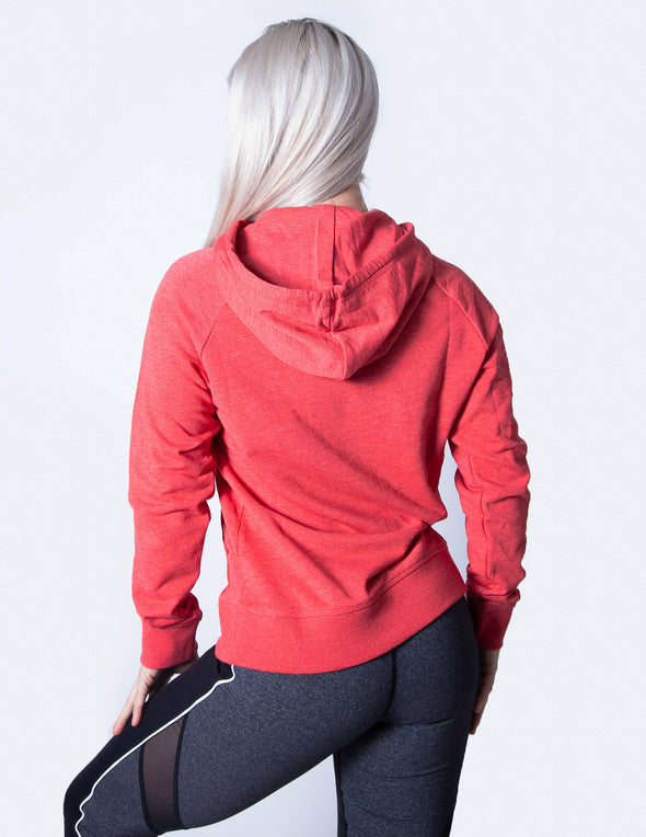 SIGNATURE PULLOVER HOODIE - RED MARL - Rise Above Fear, High Performance Activewear, Sportswear