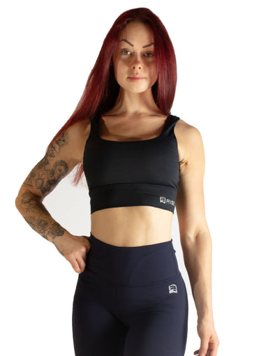 ESSENTIALS SPORTS BRA - BLACK