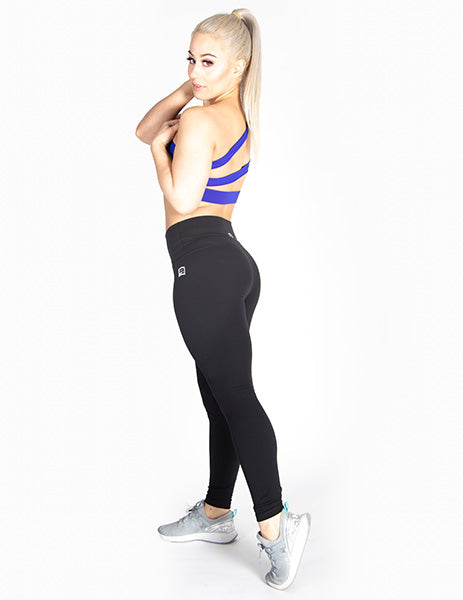 ONE SHOULDER MESH SPORTS BRA - ROYAL BLUE - Rise Above Fear, High Performance Activewear, Sportswear