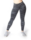 GRAPHIC PRINT MID RISE LEGGINGS - BLACK - Rise Above Fear, High Performance Activewear, Sportswear