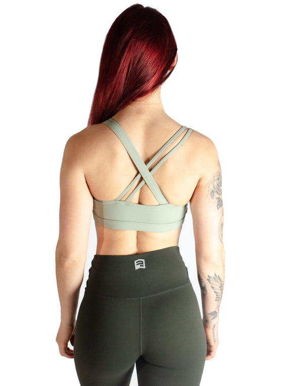 ASYMMETRIC SPORTS BRA - GRASS GREEN