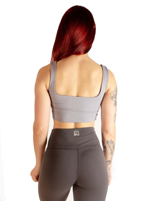 SIGNATURE SPORTS BRA - GREY