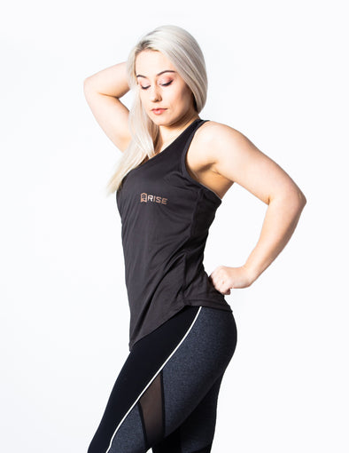 RACER BACK VEST TOP - GREY - Rise Above Fear, High Performance Activewear, Sportswear
