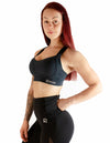 MESH PANEL SPORTS BRA - DARK NAVY