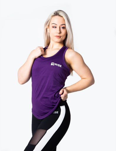 RACER BACK VEST TOP - PURPLE - Rise Above Fear, High Performance Activewear, Sportswear