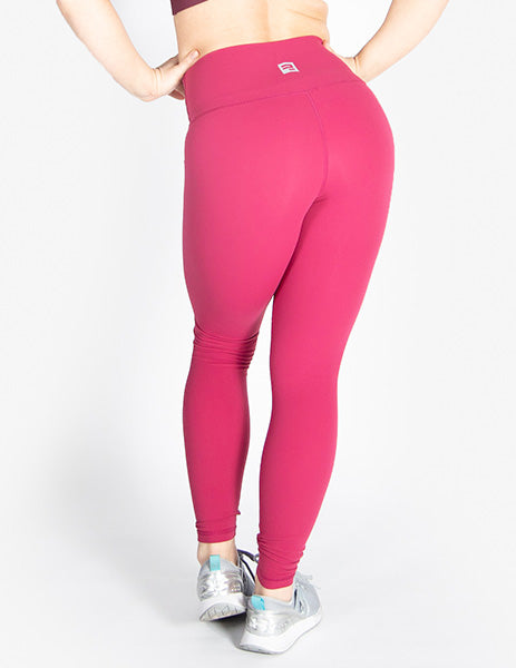 HIGH RISE LEGGINGS - DARK PINK - Rise Above Fear, High Performance Activewear, Sportswear