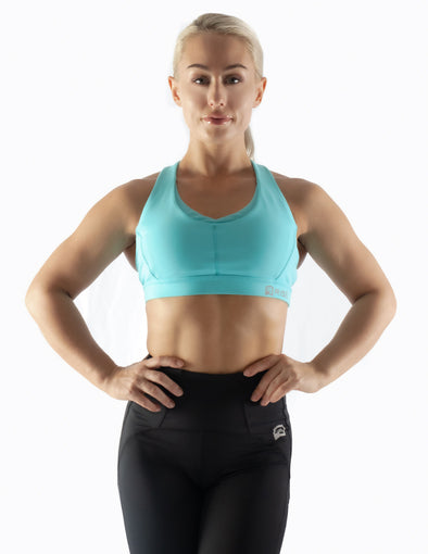 CRISS CROSS SPORTS BRA - SKY BLUE