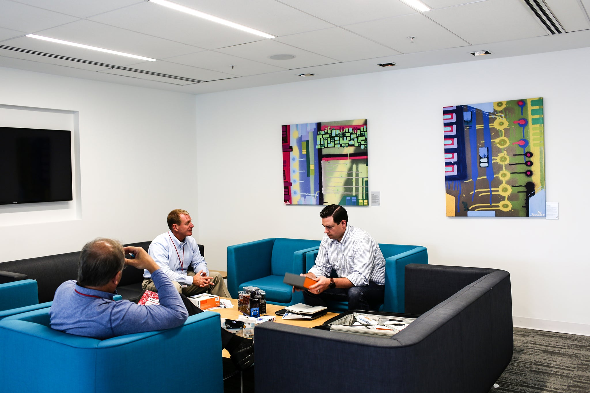 """Bringing ArtLifting in was such an easy decision because you want to have a corporate office that has a homey feel and that inspires your associates."" - John Burke, Chief Culture Officer"