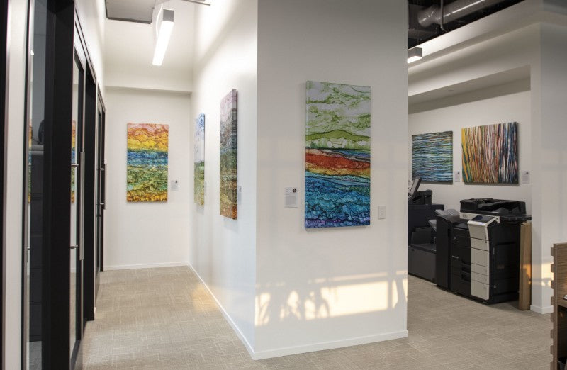 I would highly recommend ArtLifting. They transform lives. Working with them was incredibly easy. The team is professional and we appreciate them giving us the opportunity to display beautiful works of art done by beautiful people.</p>-Barbara Cole, Chief Operating Officer of the Sereno Group