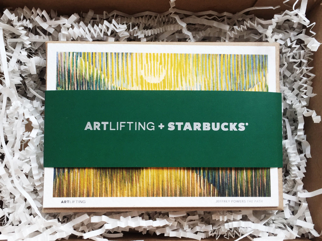 In November 2016, ArtLifting partnered with Starbucks to create limited edition Gift Cards by 11 artists. The Cards sold out in one day.