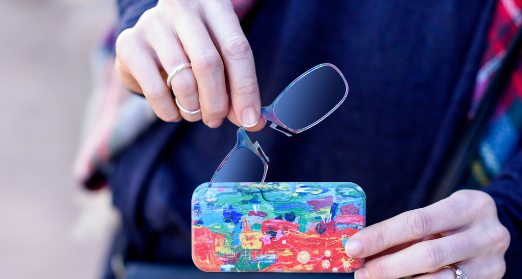 In December 2016, ArtLifting announced a partnership with ThinOPTICS, the pioneering eyewear company that revolutionized reading glasses with its stemless lenses, to launch a Curated Collection of ten new cases designed by artists living with homelessness or disabilities.