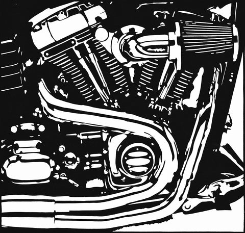Harley Engine - ArtLifting