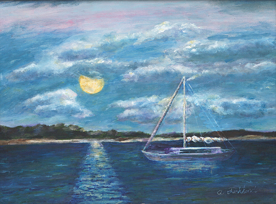 Moonlight Over the Bay - ArtLifting