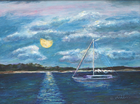 Moonlight Over the Bay
