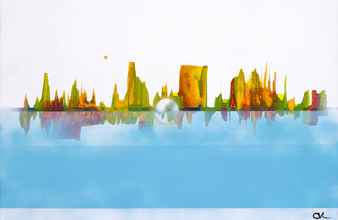 Cityscape Reflection - ArtLifting