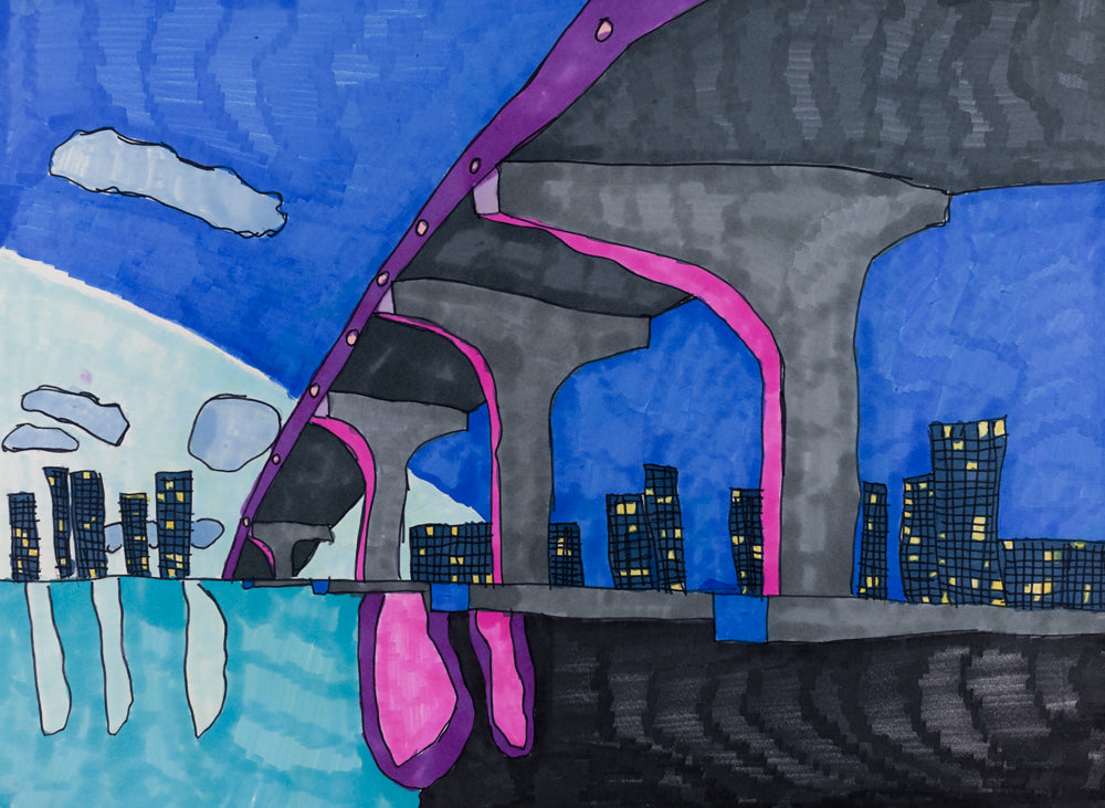 Miami at Night - ArtLifting
